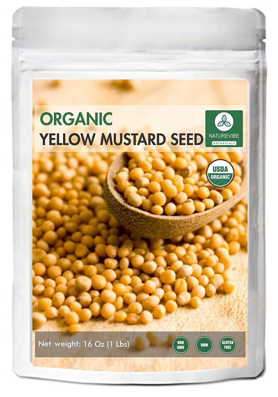 Naturevibe Botanicals Organic Yellow Mustard Seeds