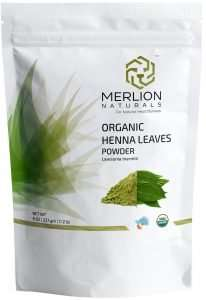 Merlin Naturals Organic Henna Leaves Powder