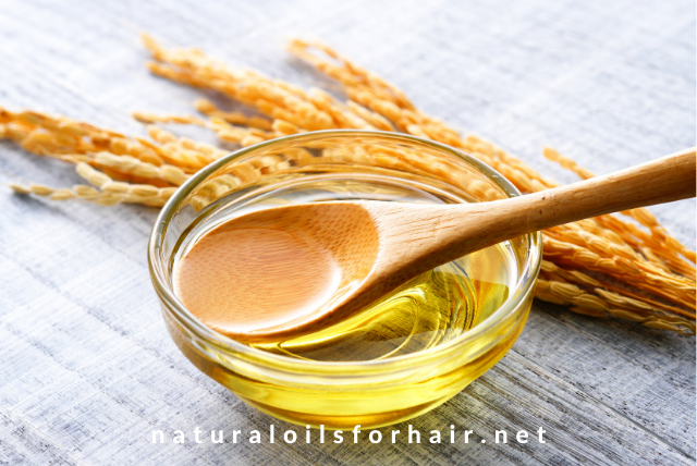 DIY rice bran oil mask for dry and dull hair
