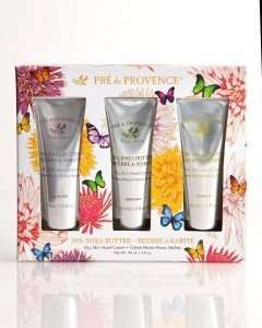 Pre de Provence Shea Butter Enriched, Cooling, Moisturizing Hand Cream Gift Set of 3