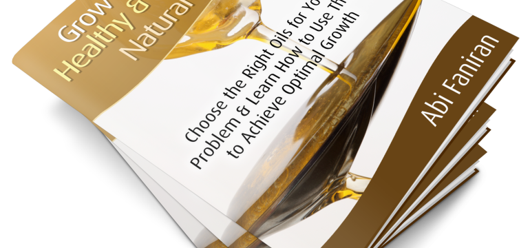 grow your hair healthy and long with natural oils