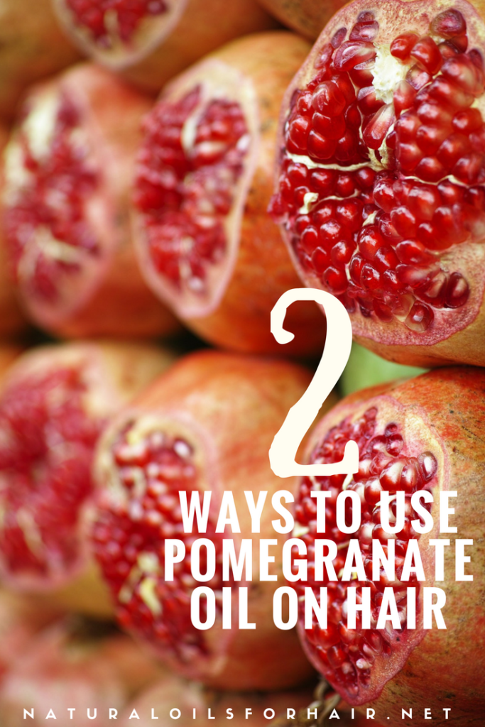 2 ways to use pomegranate seed oil on your hair and boost your wash and go results