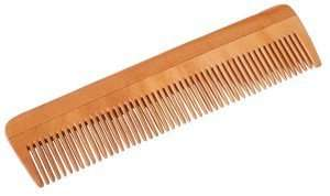 handrcrafted neem wood comb