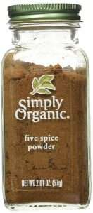 Simply Organic Five Spice Powder for chinese and indian cooking
