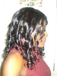 curlformers set on natural hair wig 3