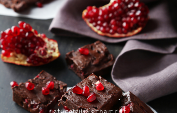 Simple and easy pomegranate chocolate dessert recipe
