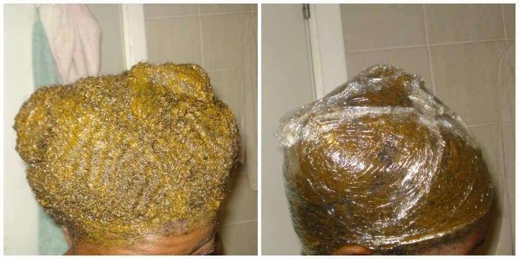 henna after applicaiton on natural hair