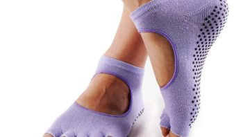 Baleaf Grip Toeless Yoga Pilates Barre Socks