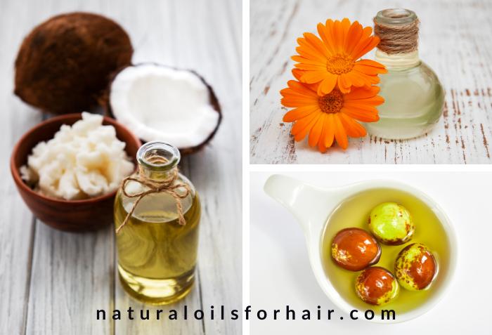 Best hair steaming oils, coconut oil, calendula oil, jojoba oil