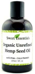 Sweet Essentials Organic Unrefined Hemp Seed Oil