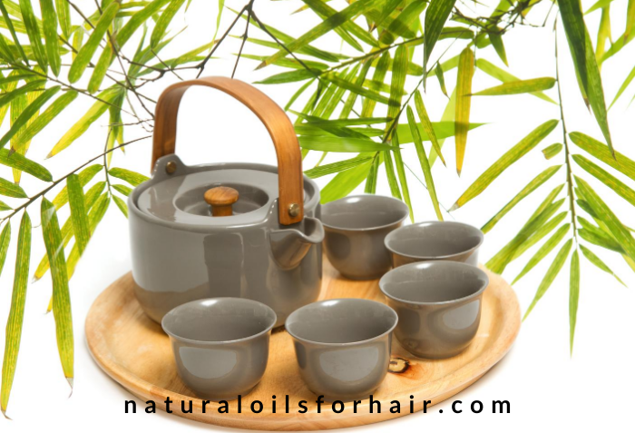 bamboo leaf tea for healthy hair and longer nails