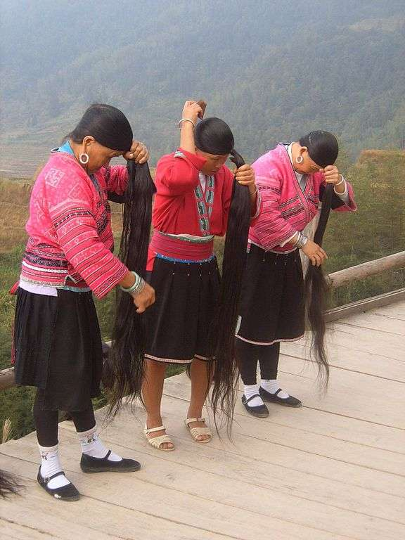 Yao Women with Long Hair