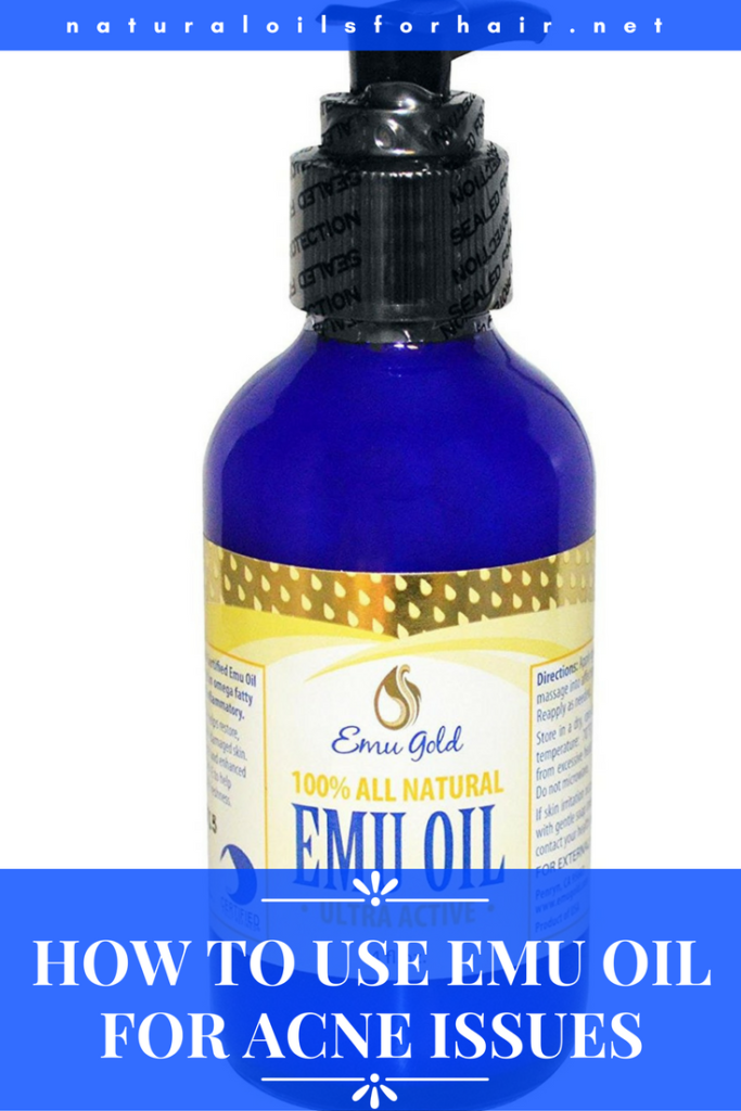How to use emu oil for acne issues