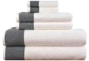 Luxury Turkish Combed Cotton Jacquard Towel Set