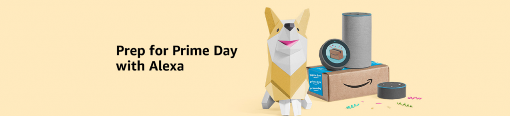 prep for prime day with Alexa