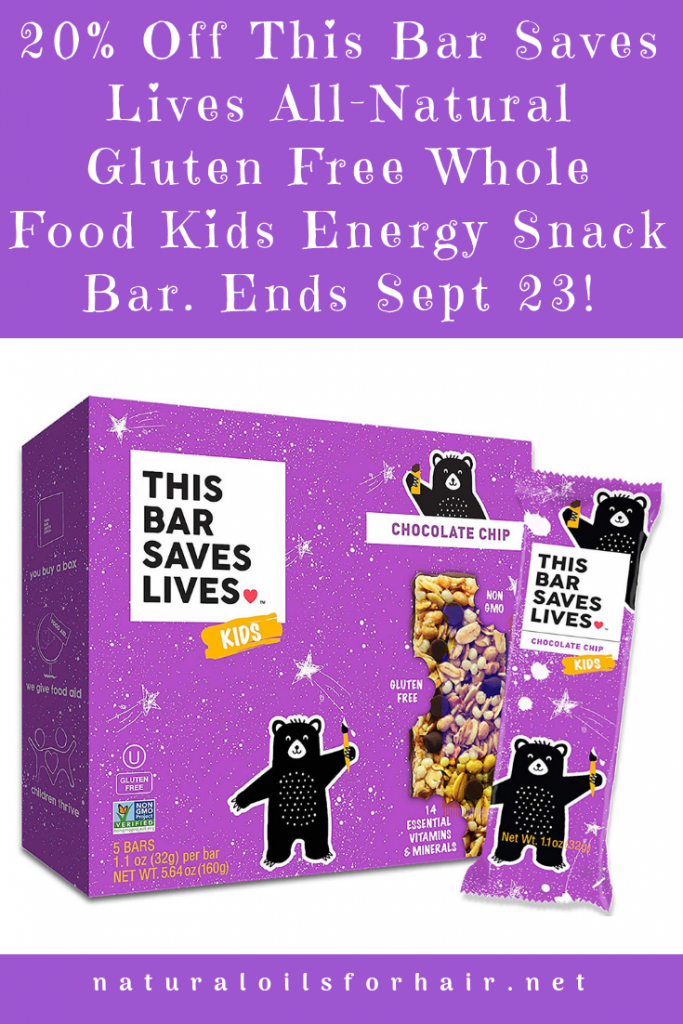20% off this bar saves lives gluten free kids nutrition bar