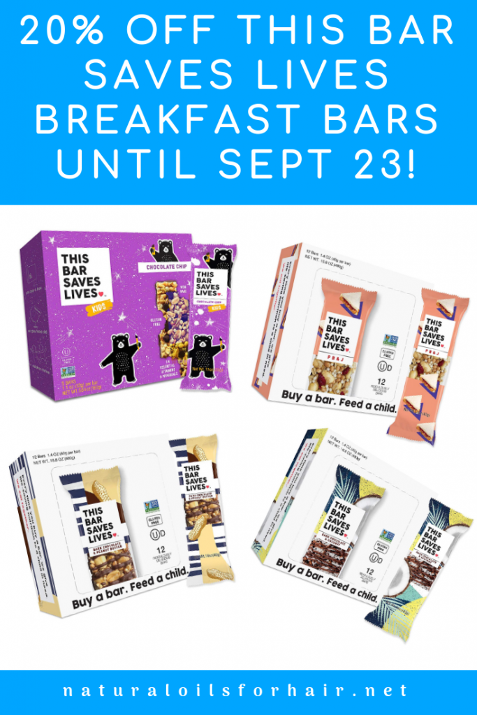 20% off this bar saves lives nutrition bars