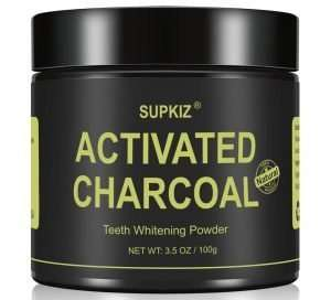 Supkiz Activated Charcoal Teeth Whitening Powder