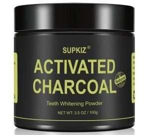 Supkiz Activated Charcoal Teeth Whitening Powder