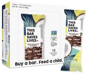 This Bar Saves Lives Granola Breakfast Bar, Dark Chocolate & Coconut