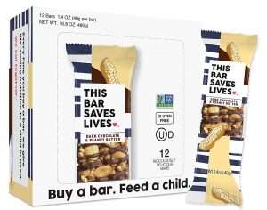 This Bar Saves Lives Granola Breakfast Bar, Dark Chocolate & Peanut Butter