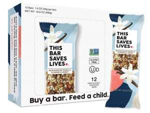 This Bar Saves Lives Granola Breakfast Bar Madagascar Vanilla Almond and Honey