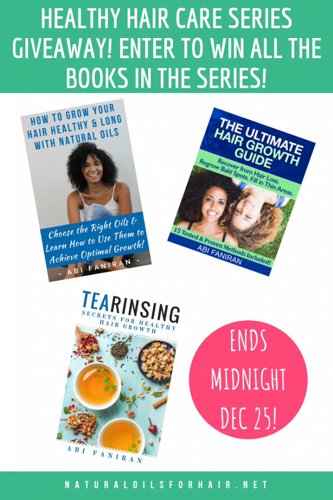 natural hair giveaway 2018. Win all the books in the healthy hair care series
