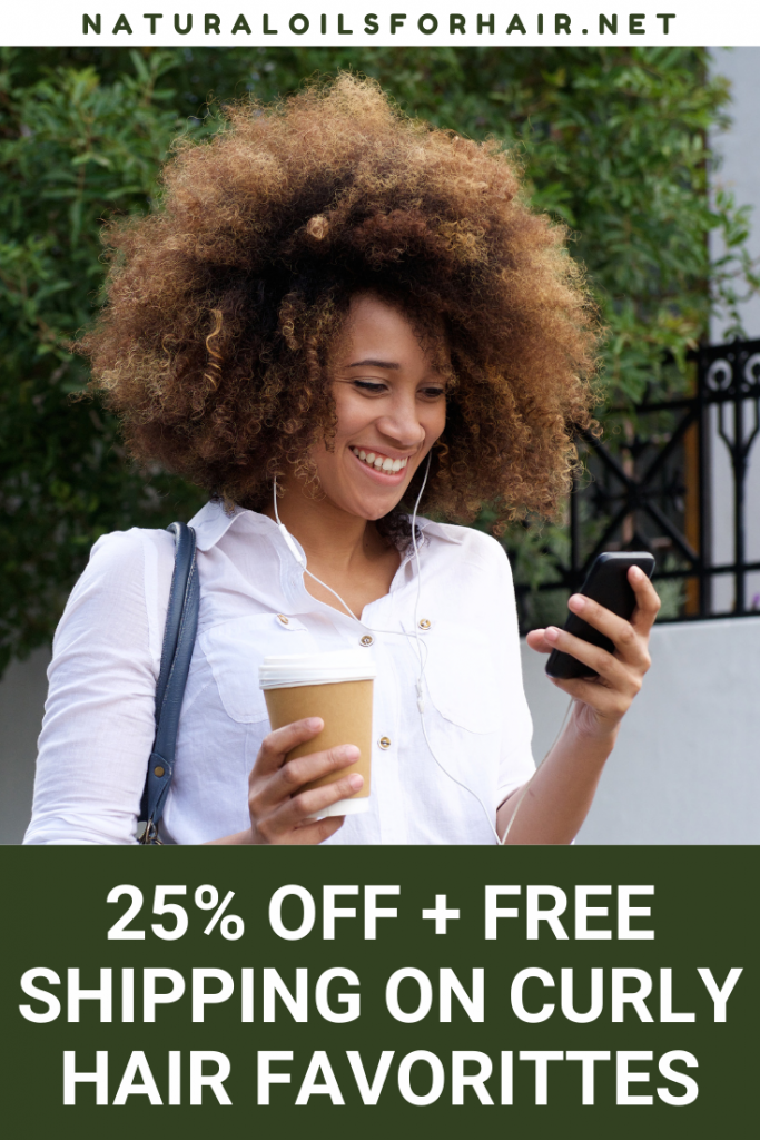 25% off plus free shipping on curly hair favorites. Check out the deals here