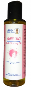 Arewa Hair Styling Oil, for type 3 to type 4 curly hair