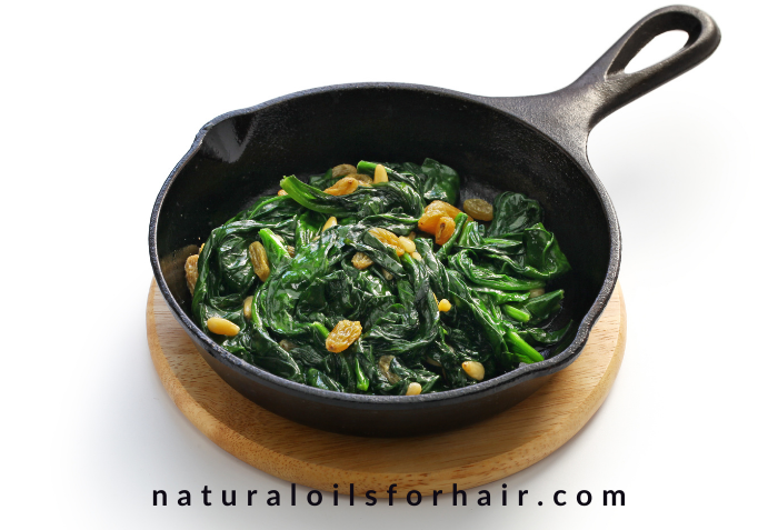 Eat spinach to boost your iron levels