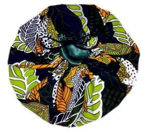 Adjustable Ankara Satin-lined Bonnet