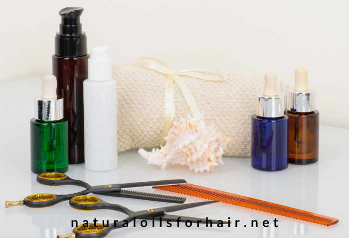 DIY Beauty and hair care, natural oils for hair and beauty