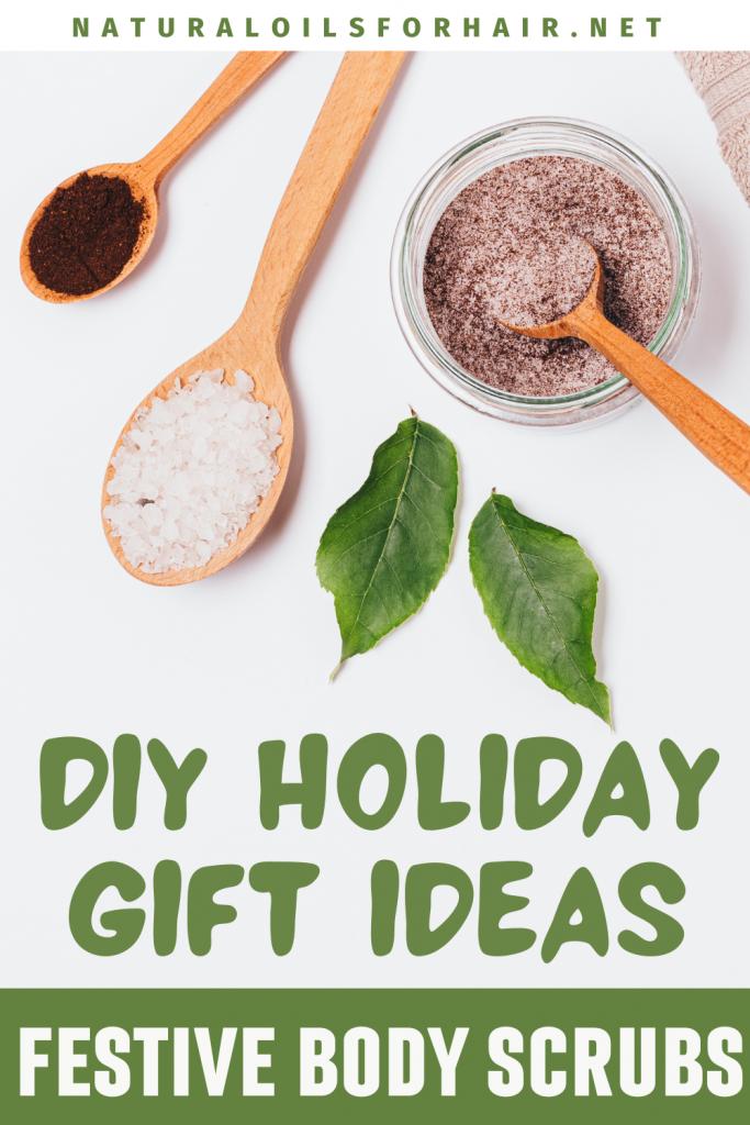 DIY holiday gift ideas - festive body scrubs