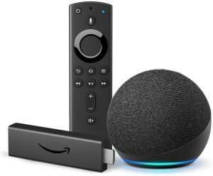 Fire TV Stick 4K and All-new Echo Dot (Charcoal) bundle