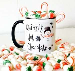 Hot Chocolate Mug with Snowman