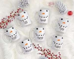 Personalized Snowman Hot Chocolate Mug