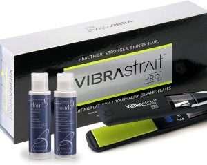 Vibrastrait Pro Vibrating Flat Iron Gift Set