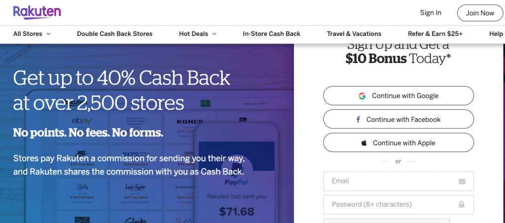 how to sign up for rakuten and get $10