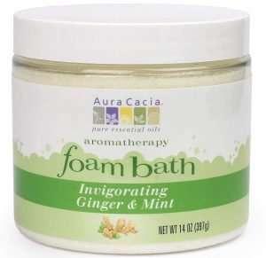 Aura Cacia Invigorating Ginger & Mint Aromatherapy Foam Bath