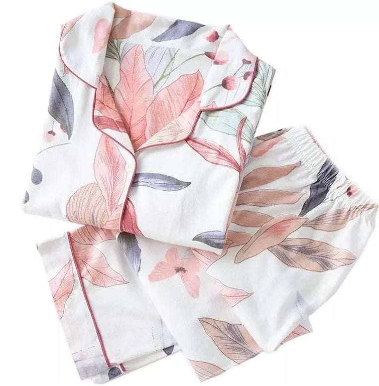 Floral Lounging Pajamas Set